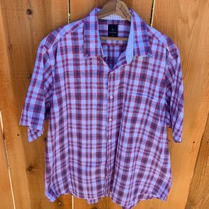 Mens Tailorbyrd Collection Plaid Shirt Size XXL